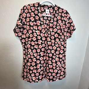 CAbi #5347 Harmony Floral Blouse Women's Size M